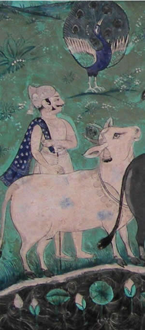 Cowherd Fresco Detail