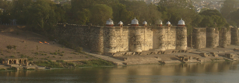 Fortification at Kotah on River Chambal