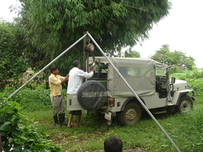 Loading Transformer in Jeep